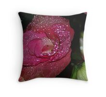 Begonia in the rain Throw Pillow