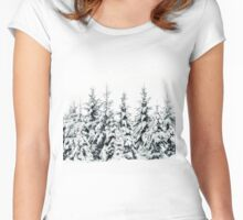 Snow Porn Women's Fitted Scoop T-Shirt