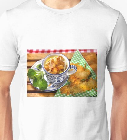 Bavarian Macaroni With Cheese and Crispy Cheese Cookie Unisex T-Shirt