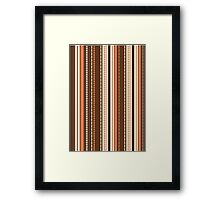 Stripes Dots Abstract Pattern  Framed Print