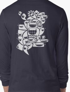 Happy Squiggles - 1-Bit Oddity - White Version Long Sleeve T-Shirt