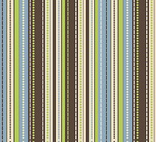 Stripes Dots Abstract Pattern  by EveStock