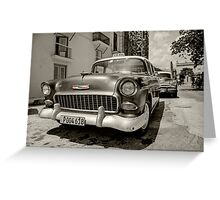Chevy Taxi  Greeting Card