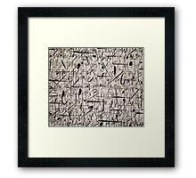 Modern Lyrics #2 Framed Print