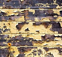 Peeling Yellow Paint Textures 75 by Dave Hare