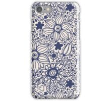 Seamless texture with blue flowers iPhone Case/Skin