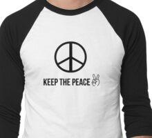 keep the peace Men's Baseball ¾ T-Shirt