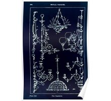 A Handbook Of Ornament With Three Hundred Plates Franz Sales Meyer 1896 0392 Metal Objects Candelier Inverted Poster