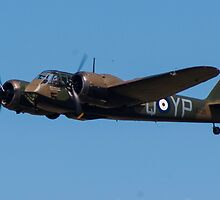 Bristol Blenheim Mk.I in flight by Christopher  Bates