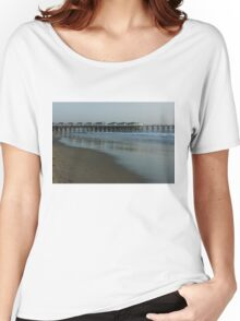 Pastel California Sunset at San Diego's Crystal Pier  Women's Relaxed Fit T-Shirt