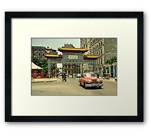 Chinatown Chevy  Framed Print