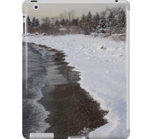 Snowy Winter Beach Patterns - Lake Ontario, Toronto, Canada iPad Case/Skin