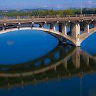 The Lamar Bridge Reflection by Roschetzky