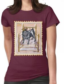 Pug King Womens Fitted T-Shirt