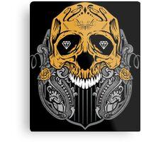 Diamond Skull Metal Print