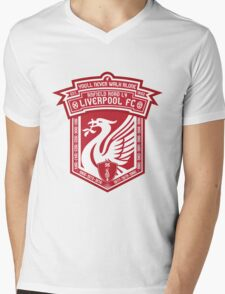 Liverpool FC - Alternate Logo / Badge Mens V-Neck T-Shirt