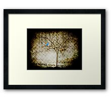 the blue bird and the sapling Framed Print