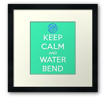 Keep Calm and Water Bend Framed Print