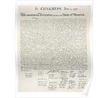 America, Declaration of Independence, United States of America, American Independence, USA Poster