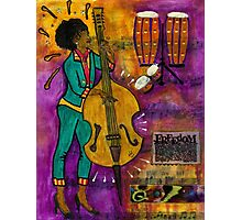 That Sistah on the Bass Photographic Print