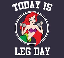 Today Is Leg Day Little Mermaid Funny Gym Fitness T-Shirt