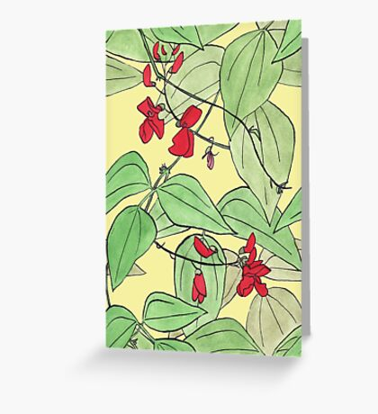 Scarlet runner beans Greeting Card