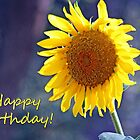 Sunflower Happy Birthday Card by Corri Gryting Gutzman