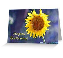 Sunflower Happy Birthday Card Greeting Card