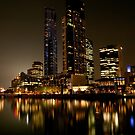 0357 Melbourne Reflections by DavidsArt
