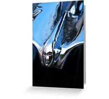 Black Cadillac.... Chrome Thingy Greeting Card