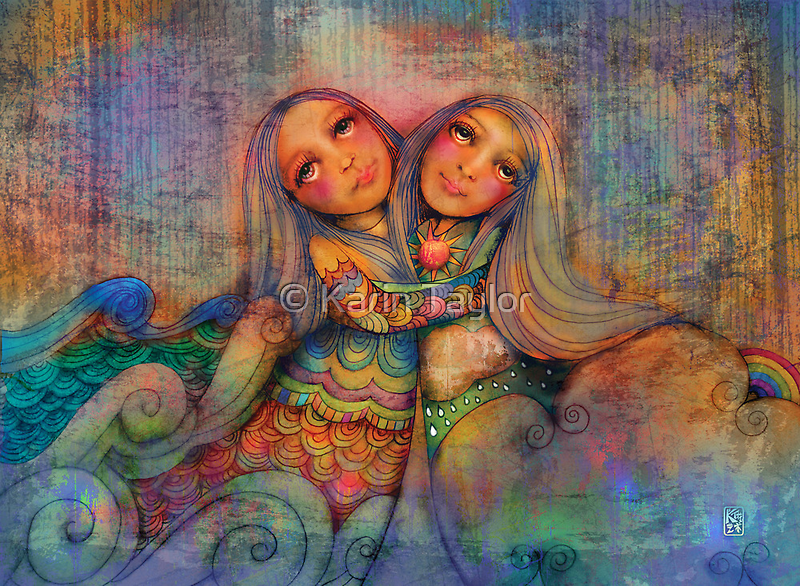 Rainbow Sisters Sky and Sea by © Karin  Taylor