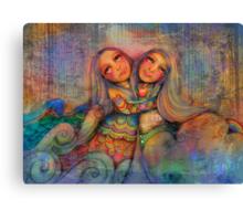 Rainbow Sisters Sky and Sea Canvas Print