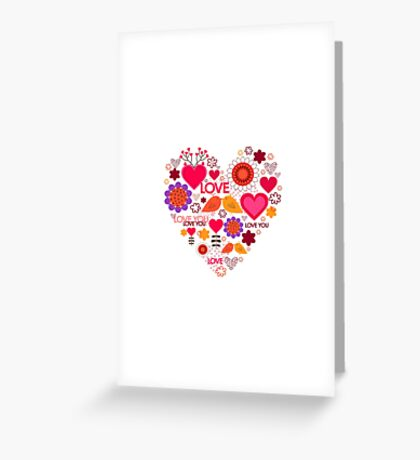 Happy Valentine's Day. Beautiful heart. Love Greeting Card