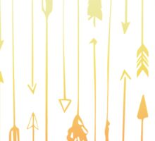 Yellow and Peach ombre Arrow pattern Sticker