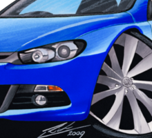 VW Scirocco (Mk3) Blue Sticker