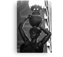 Art Deco Lamp in B&W Canvas Print