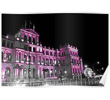 A Pink Treasury Building Poster