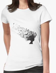 girl face design Womens Fitted T-Shirt