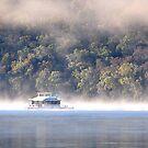 Hawkesbury River House Boat - NSW Australia by Bev Woodman