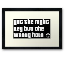 Got the right Key but the wrong hole Dark Edition Framed Print