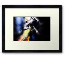 Motion Dancer #5 - Beat hands, and Wings of light Framed Print