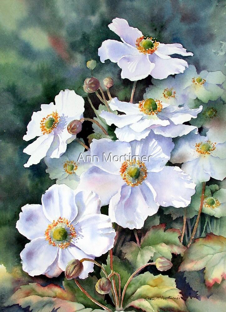 Japanese anemones by Ann Mortimer
