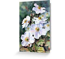 Japanese anemones Greeting Card