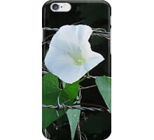 Bouquet on barbed wire iPhone Case/Skin