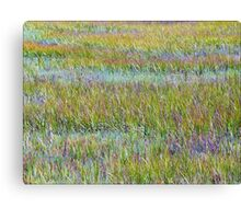 A Sea of Grasses: Waves of Color Canvas Print