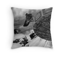Swinging through the clouds Throw Pillow