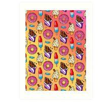 sweet tooth pattern Art Print
