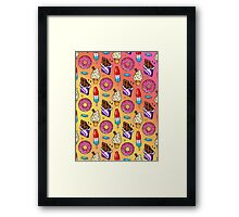 sweet tooth pattern Framed Print