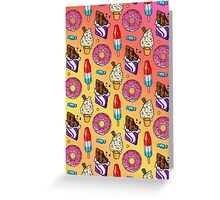 sweet tooth pattern Greeting Card