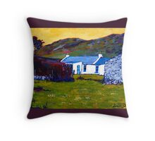 Cottage from Sheep Field Throw Pillow